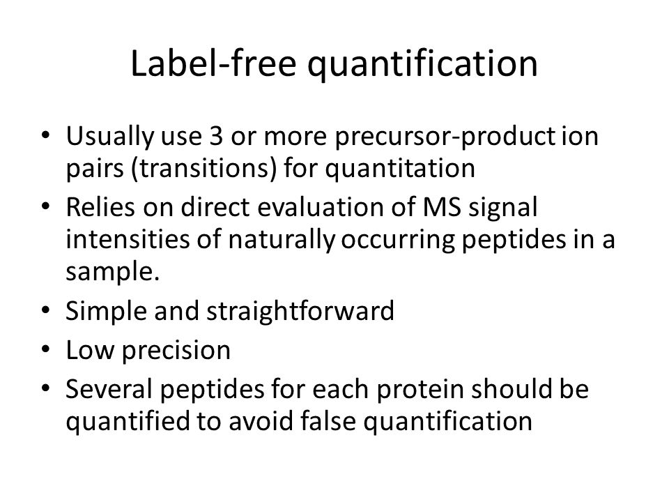 Label-free quantification