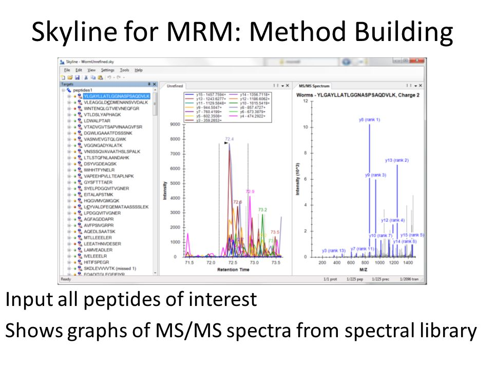 Skyline for MRM: Method Building