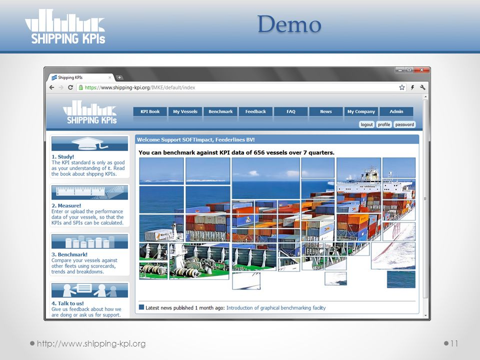 Demo http://www.shipping-kpi.org