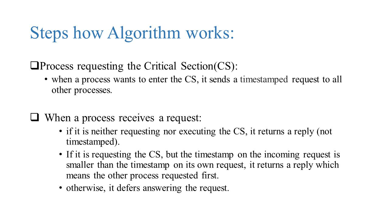 Steps how Algorithm works:
