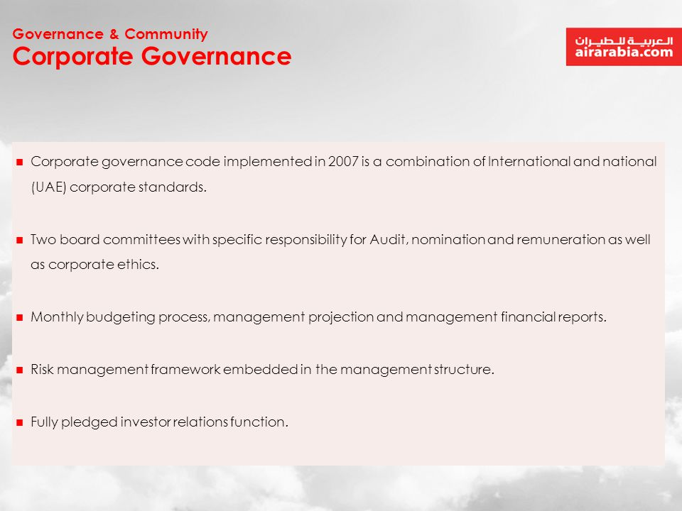 Corporate Governance Governance & Community