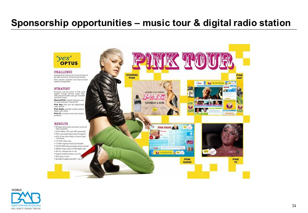 Sponsorship opportunities – music tour & digital radio station