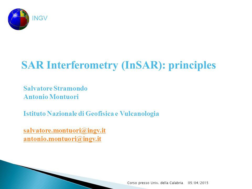 SAR Interferometry (InSAR): principles