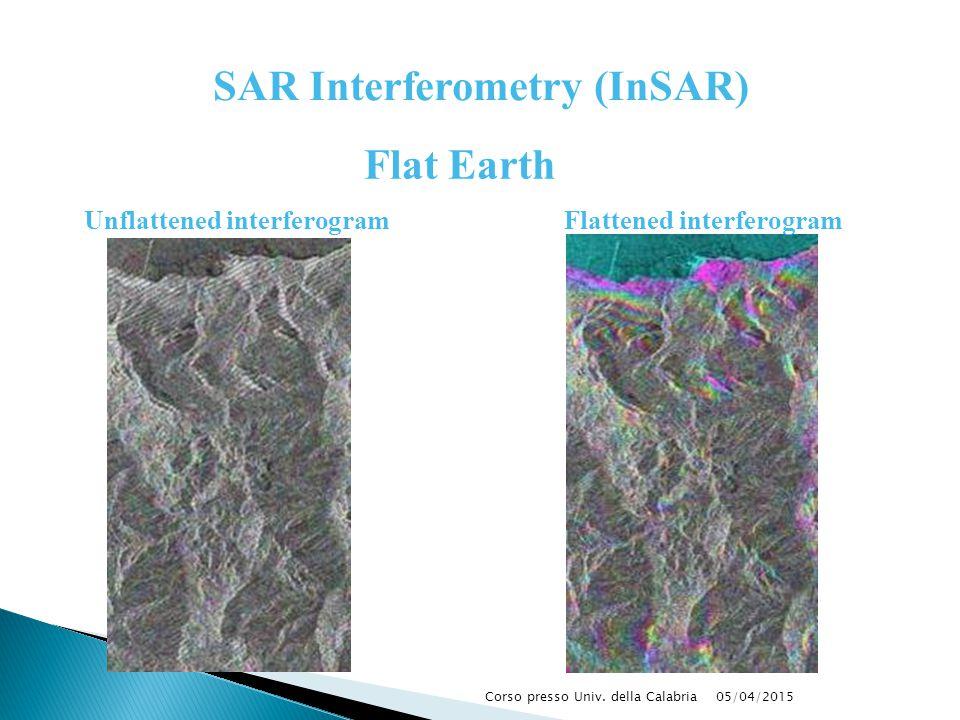 SAR Interferometry (InSAR) Flat Earth