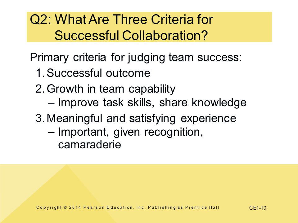 Q2: What Are Three Criteria for Successful Collaboration