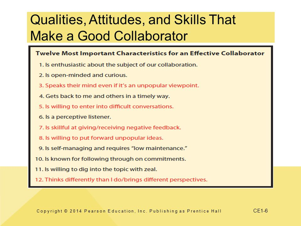 Qualities, Attitudes, and Skills That Make a Good Collaborator