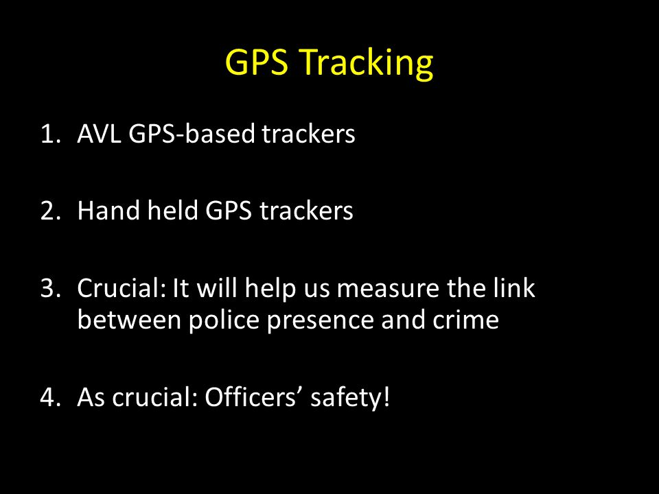 GPS Tracking AVL GPS-based trackers Hand held GPS trackers
