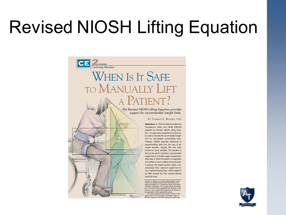 Revised NIOSH Lifting Equation