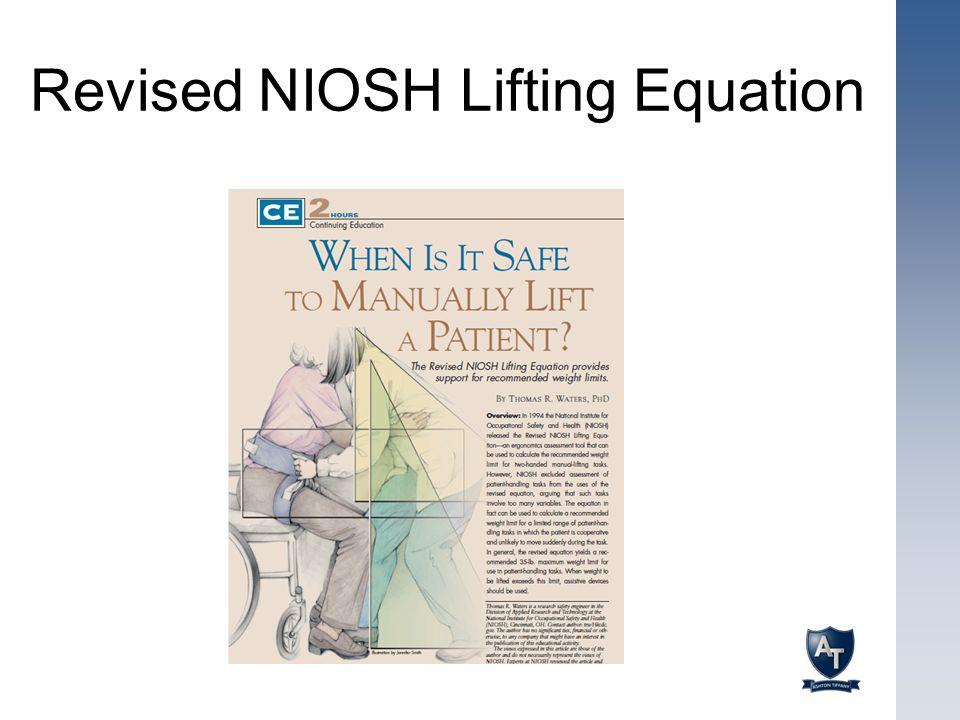 Revised NIOSH Lifting Equation