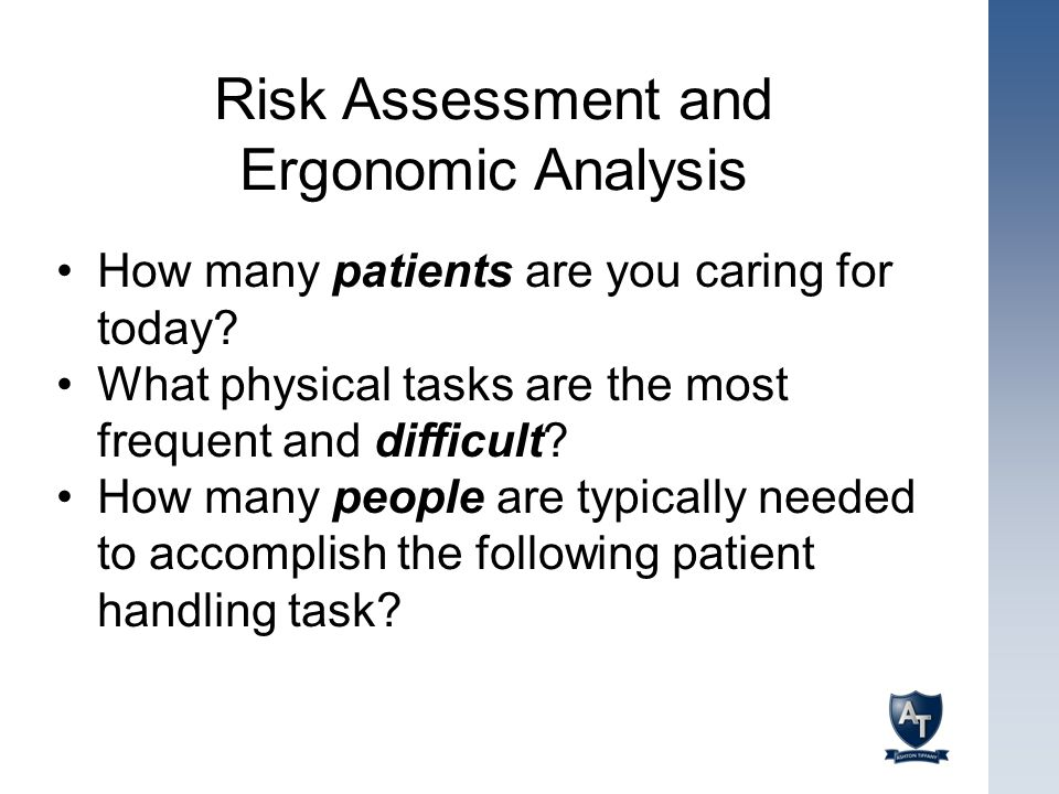 Risk Assessment and Ergonomic Analysis