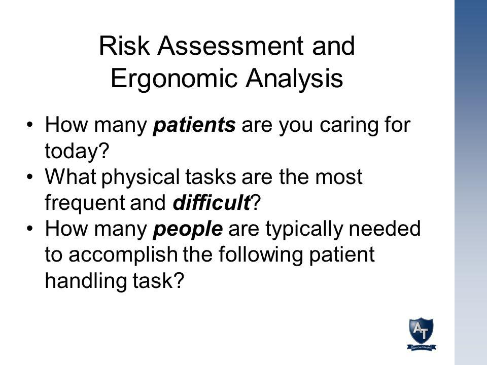 Risk Assessment and Ergonomic Analysis