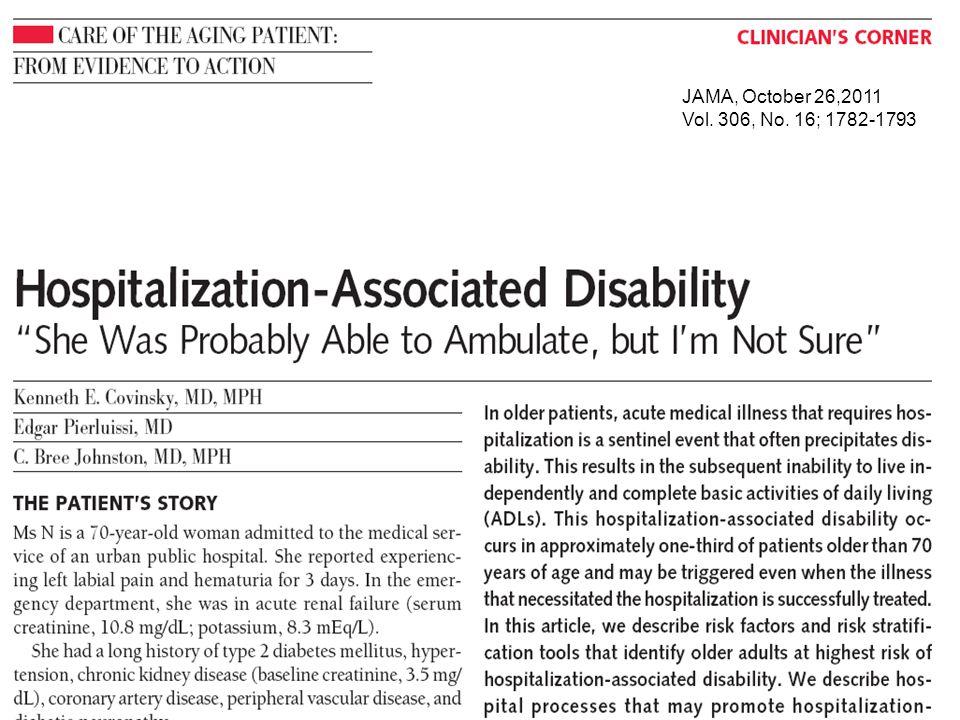 JAMA, October 26,2011 Vol. 306, No. 16; 1782-1793
