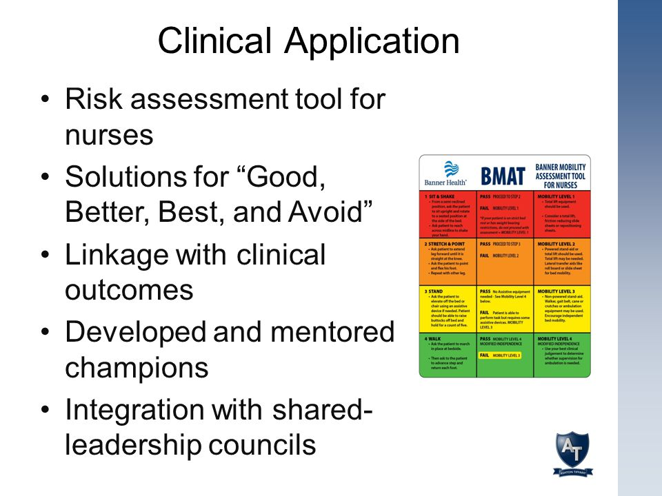 Clinical Application Risk assessment tool for nurses