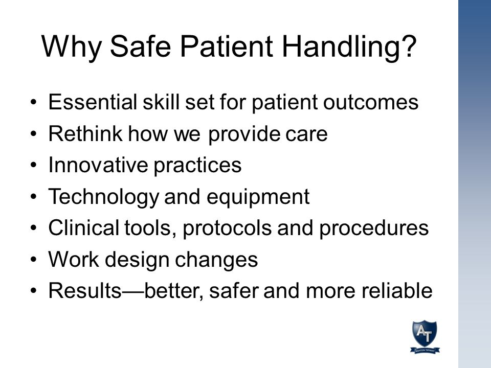 Why Safe Patient Handling
