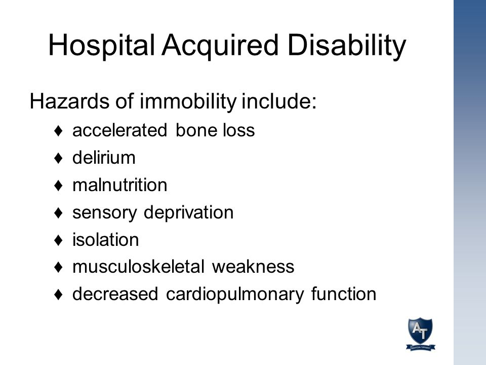 Hospital Acquired Disability