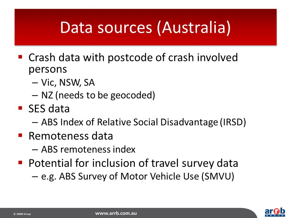 Data sources (Australia)