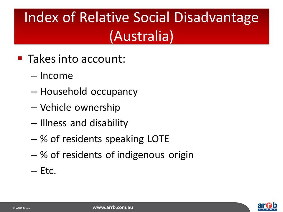 Index of Relative Social Disadvantage (Australia)