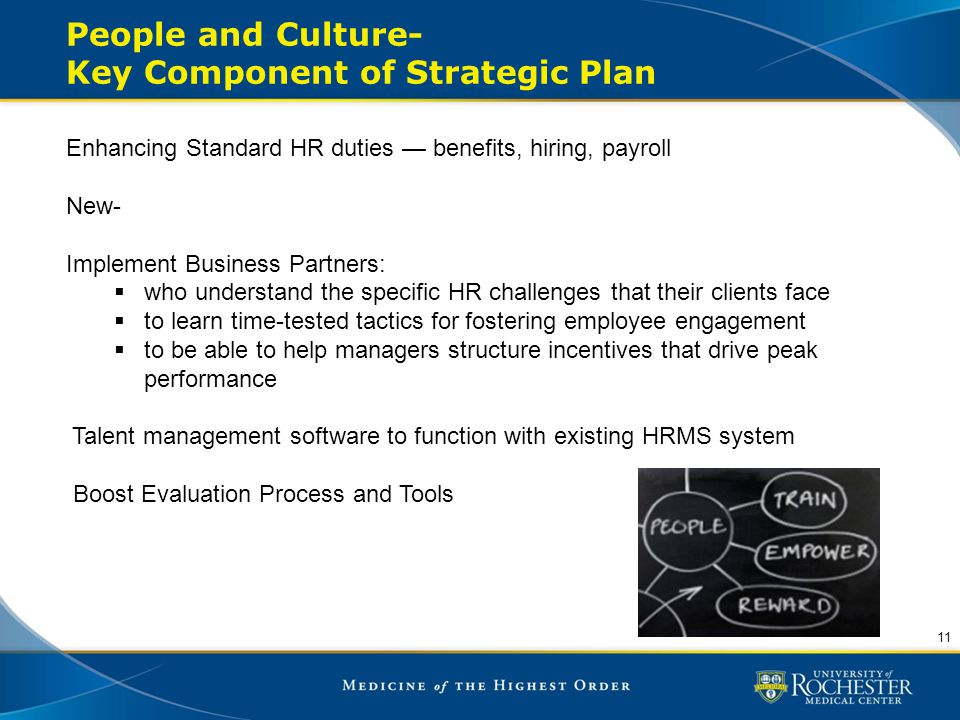 People and Culture- Key Component of Strategic Plan