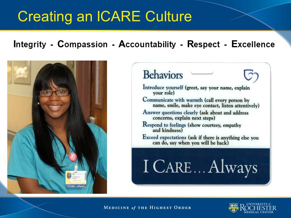 Creating an ICARE Culture