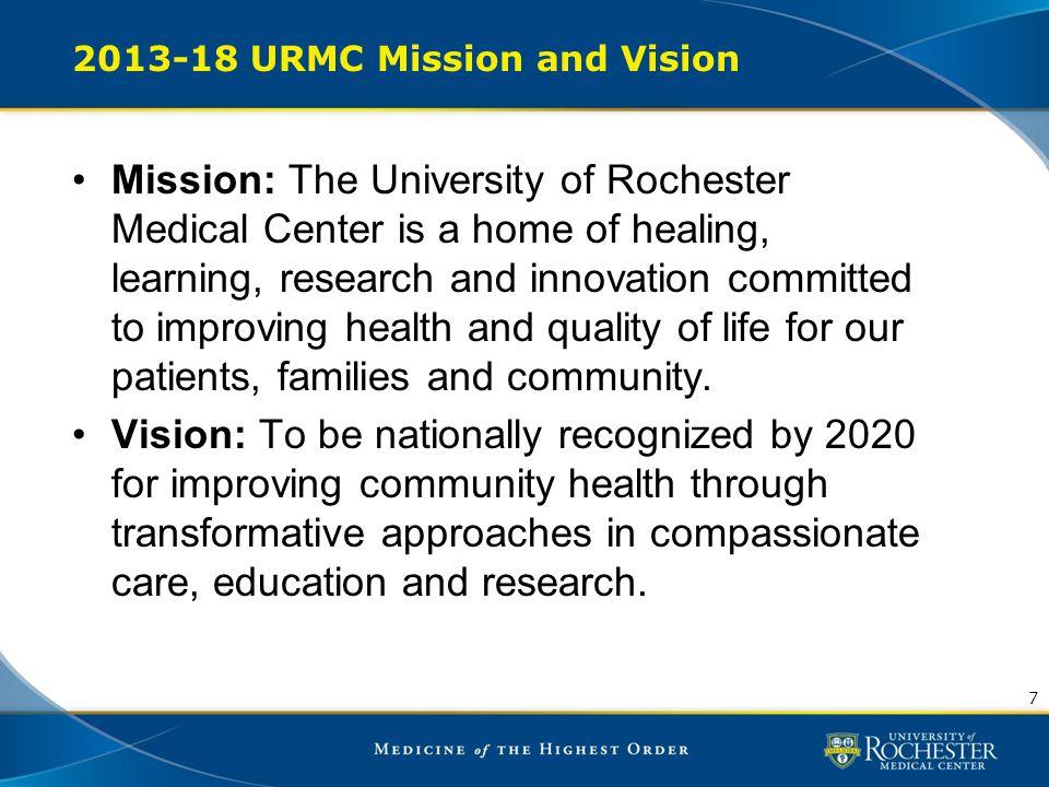 2013-18 URMC Mission and Vision