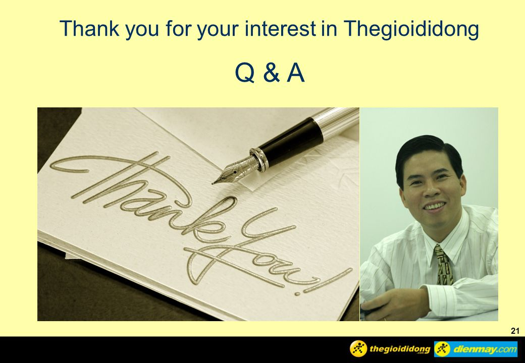 Thank you for your interest in Thegioididong