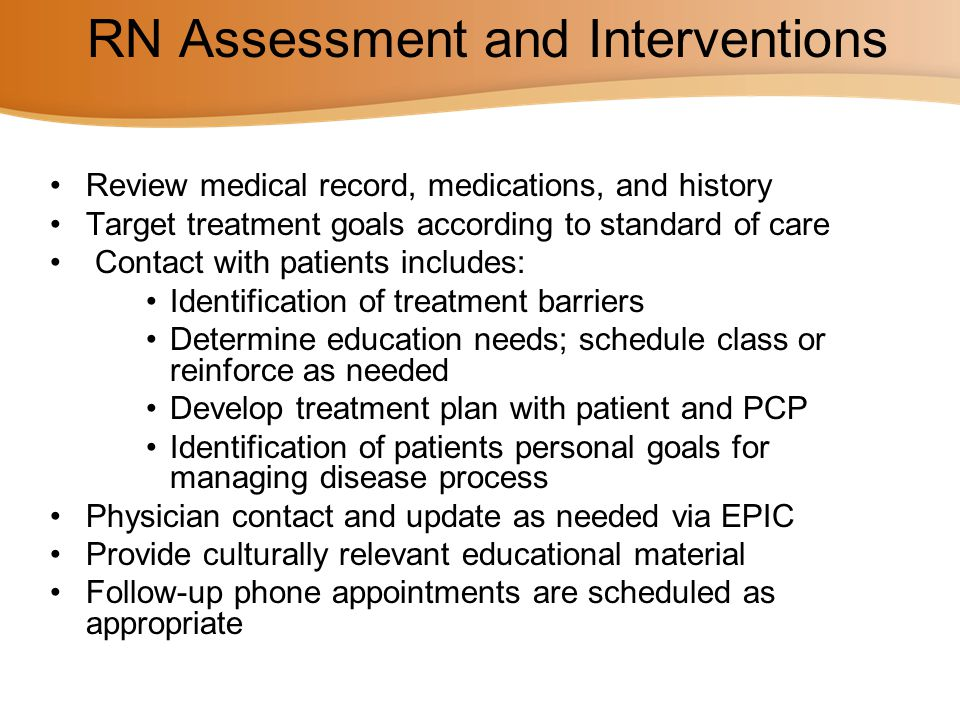 RN Assessment and Interventions