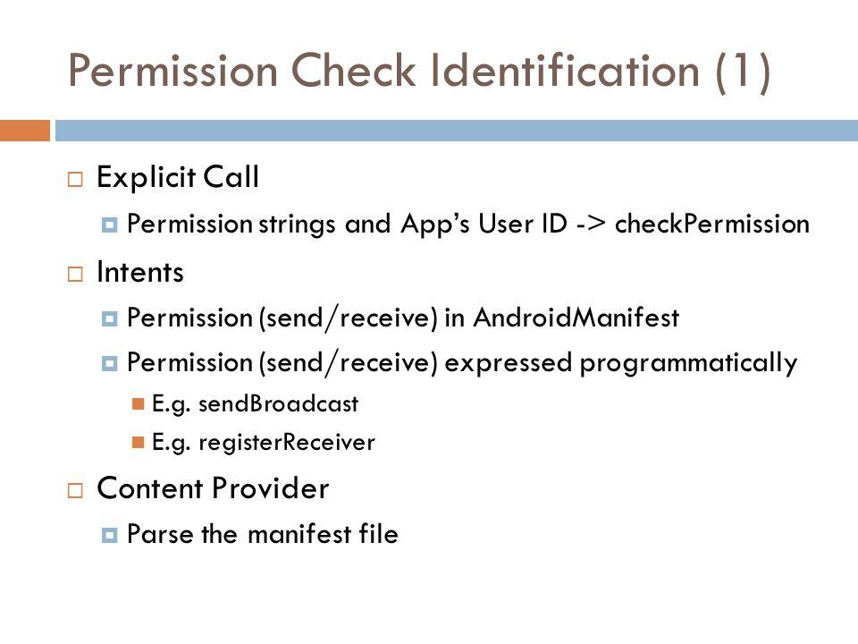 Permission Check Identification (1)