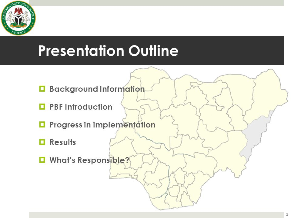 Presentation Outline Background Information PBF Introduction