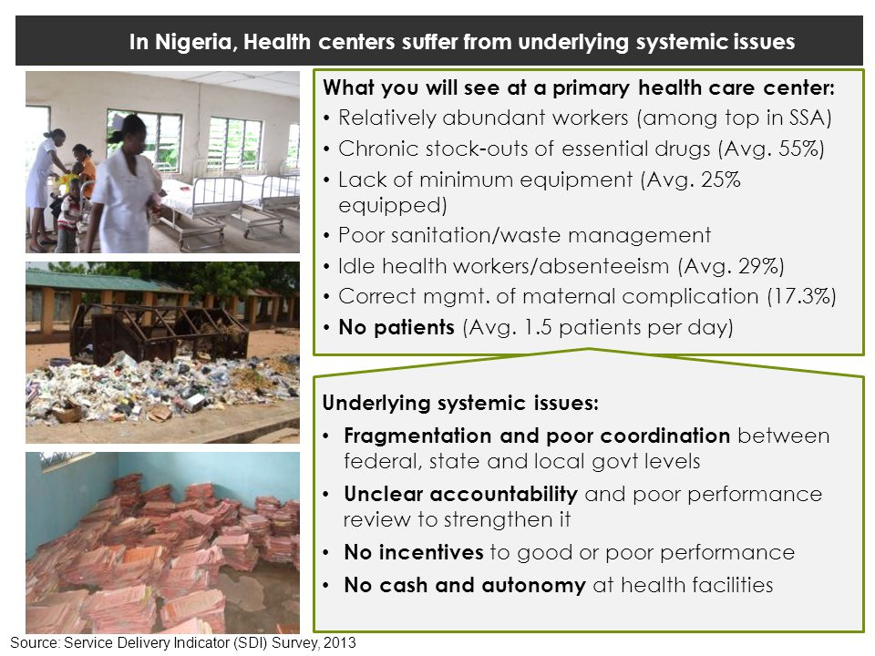 In Nigeria, Health centers suffer from underlying systemic issues