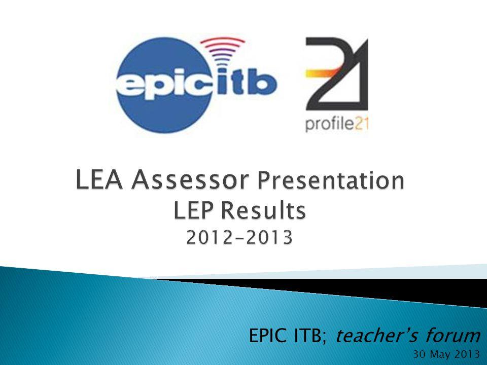 LEA Assessor Presentation LEP Results 2012-2013
