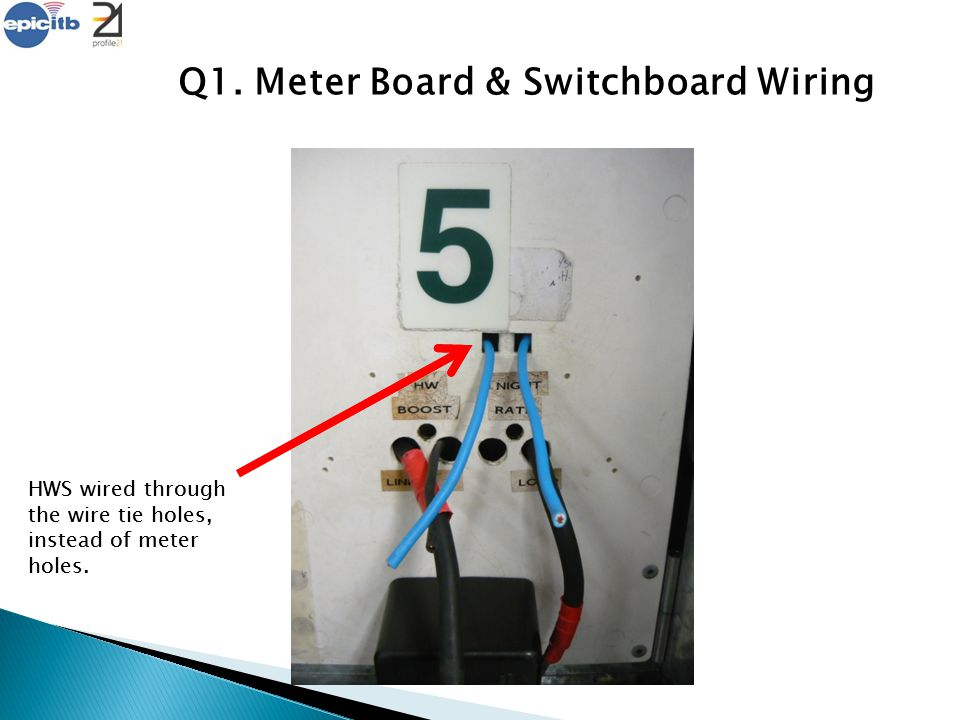 Q1. Meter Board & Switchboard Wiring