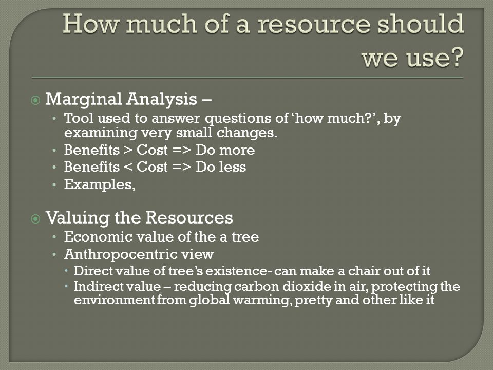 How much of a resource should we use