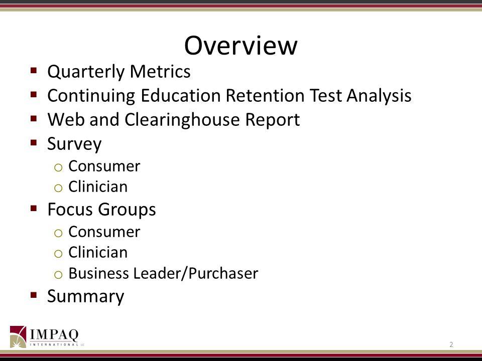 Overview Quarterly Metrics