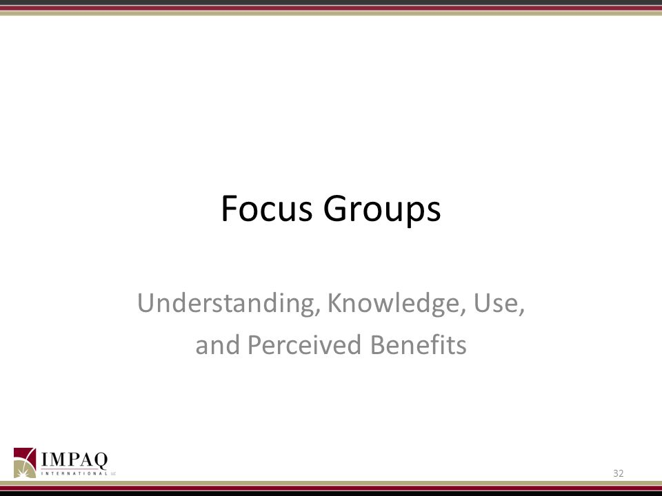 Understanding, Knowledge, Use, and Perceived Benefits