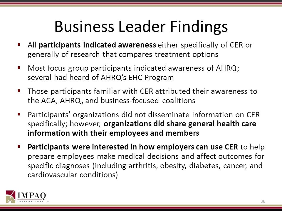 Business Leader Findings