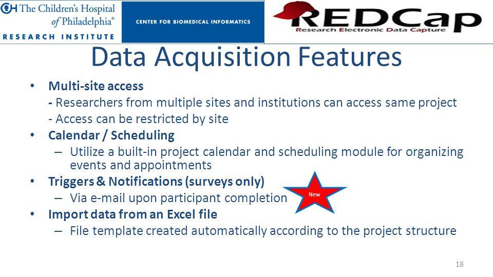 Data Acquisition Features