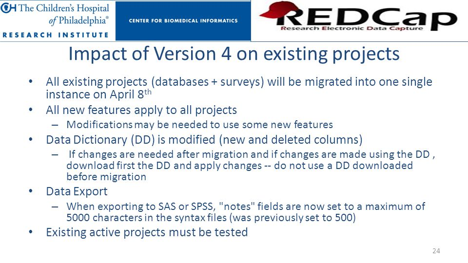 Impact of Version 4 on existing projects