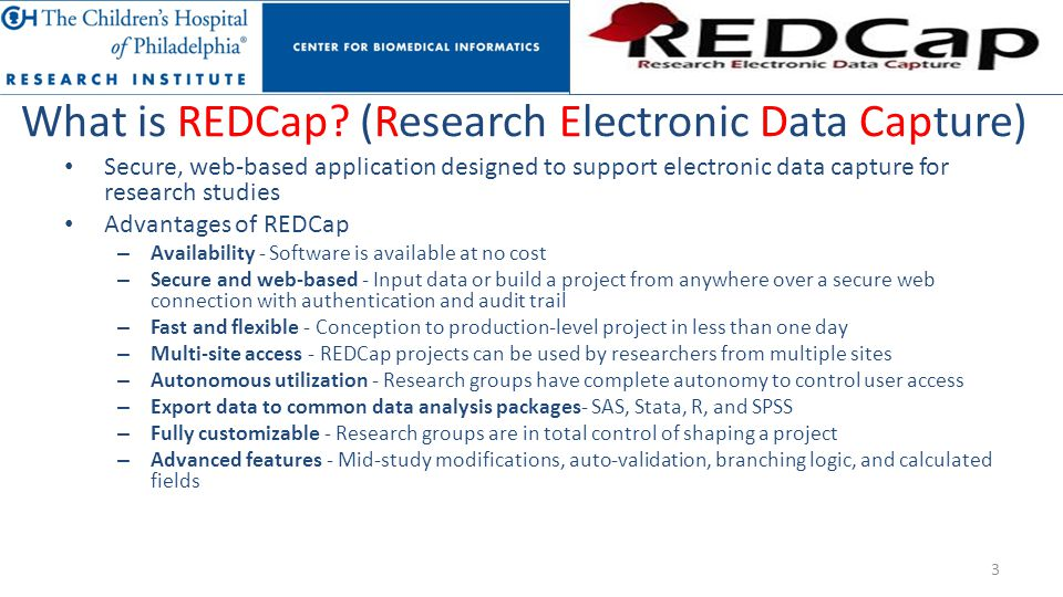 What is REDCap (Research Electronic Data Capture)