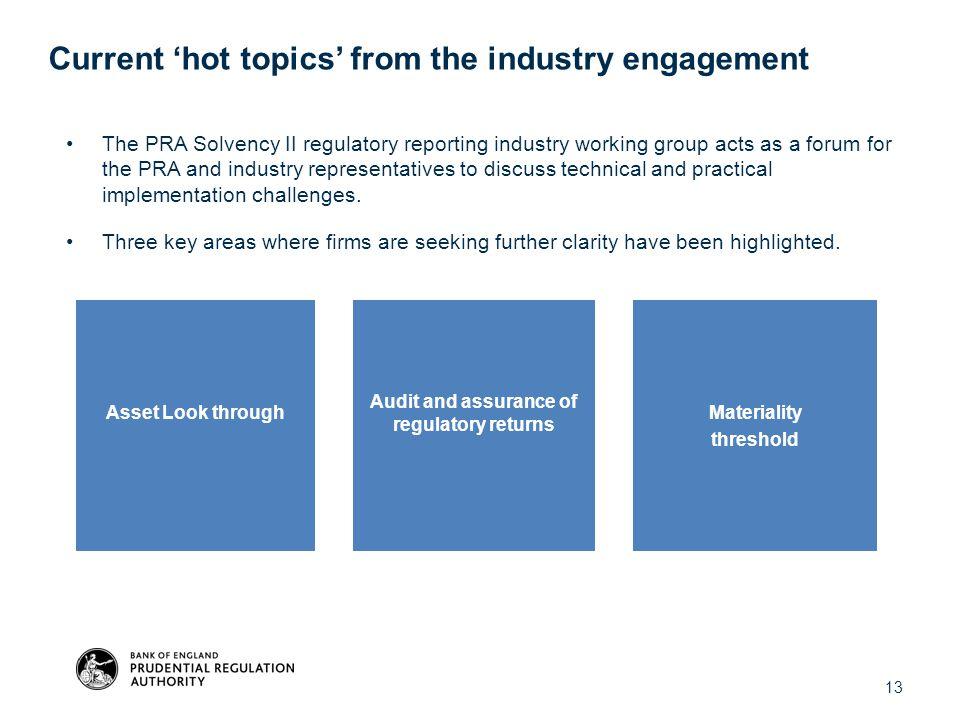 Audit and assurance of regulatory returns