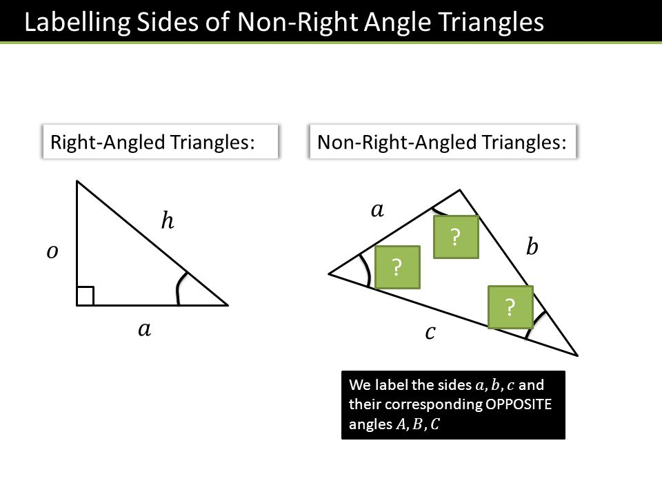 Labelling Sides of Non-Right Angle Triangles