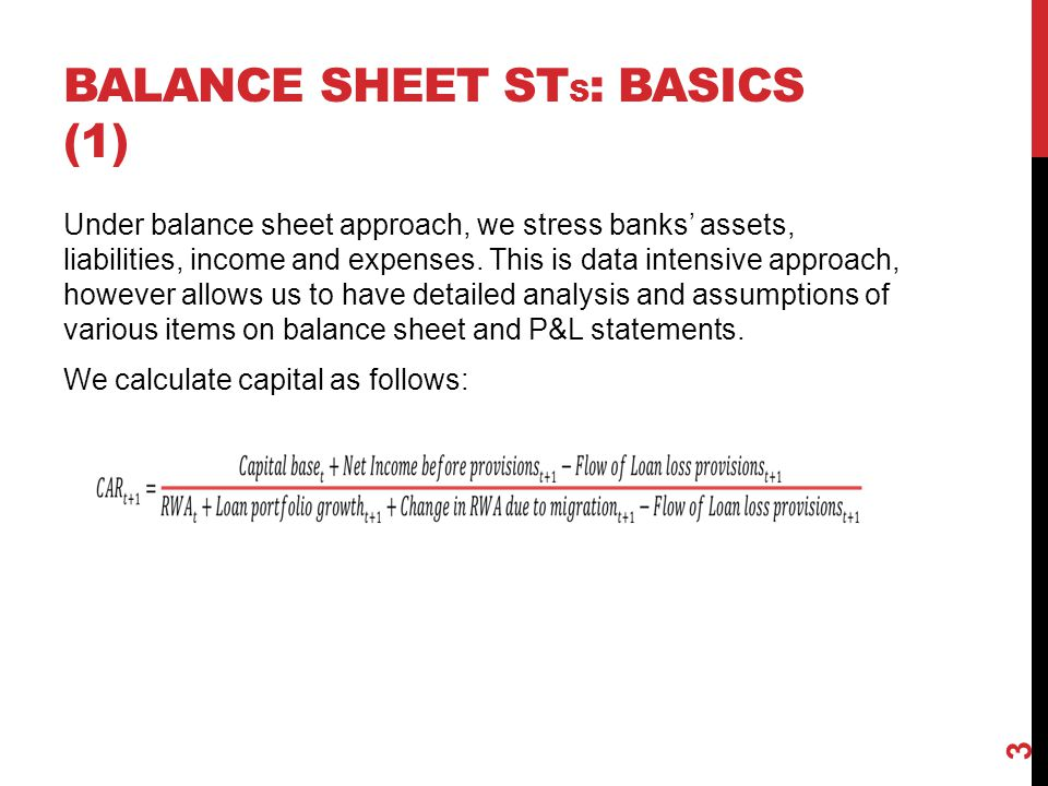 Balance sheet STs: basics (1)