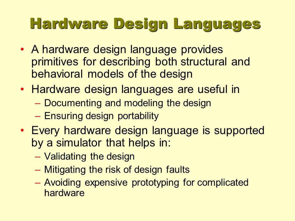 Hardware Design Languages