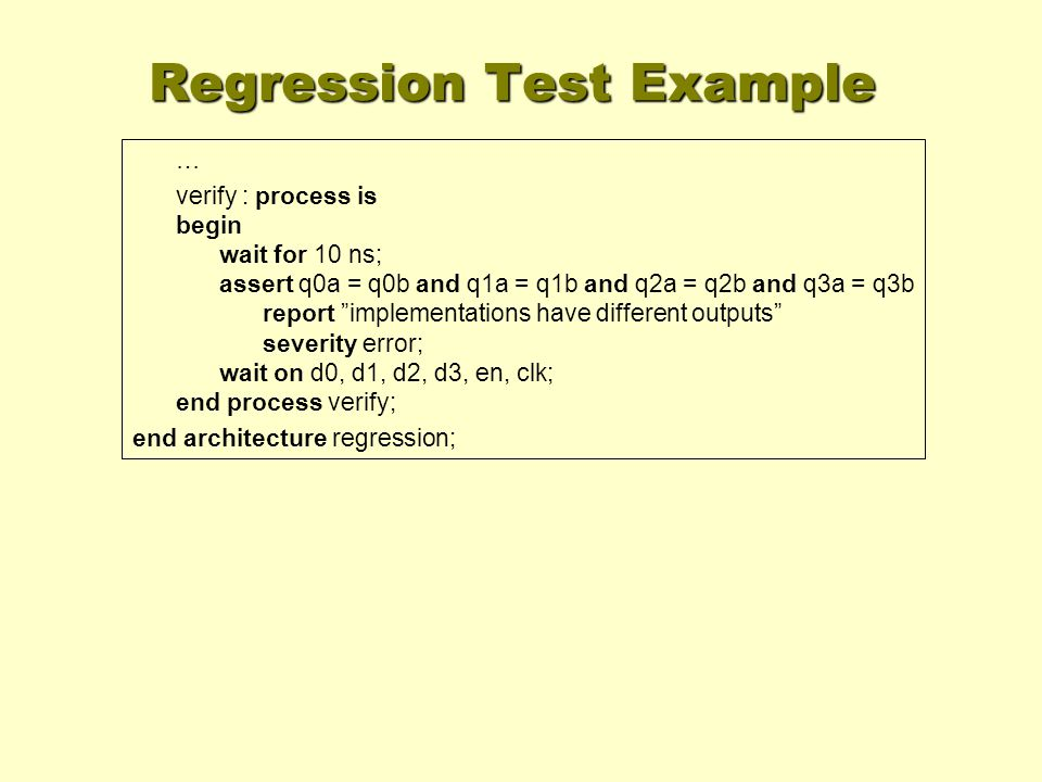 Regression Test Example