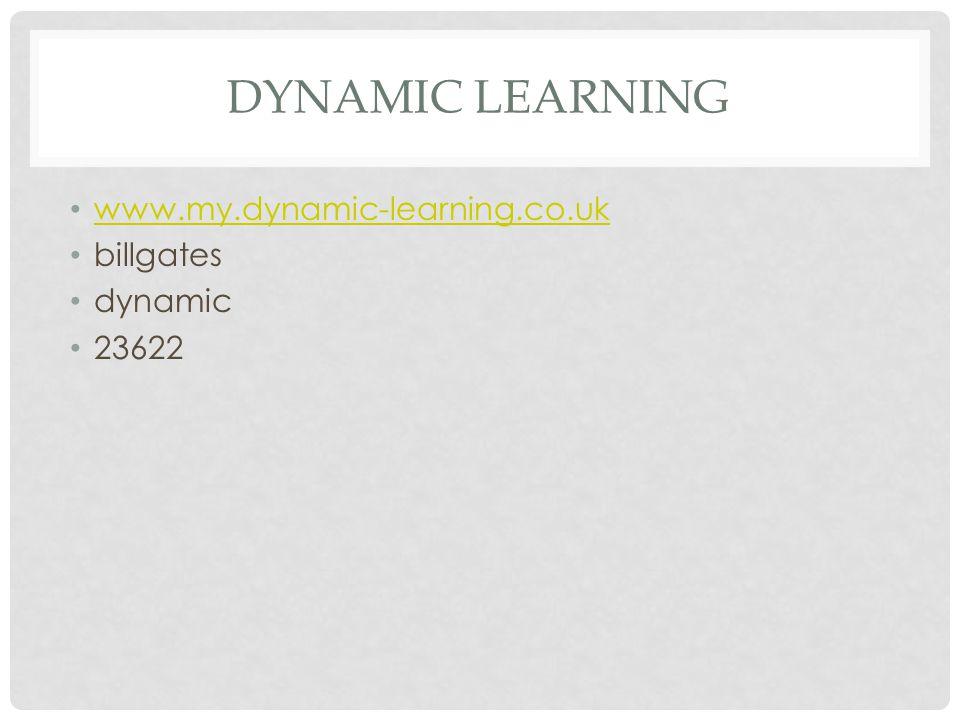 Dynamic Learning www.my.dynamic-learning.co.uk billgates dynamic 23622