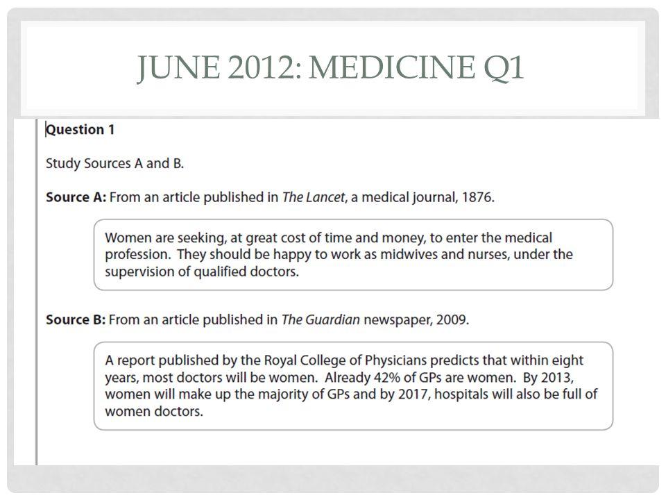 June 2012: Medicine Q1