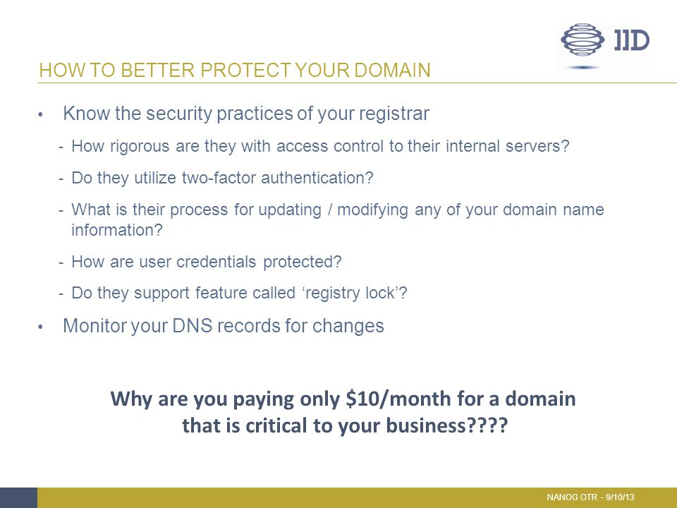 How To Better Protect Your Domain