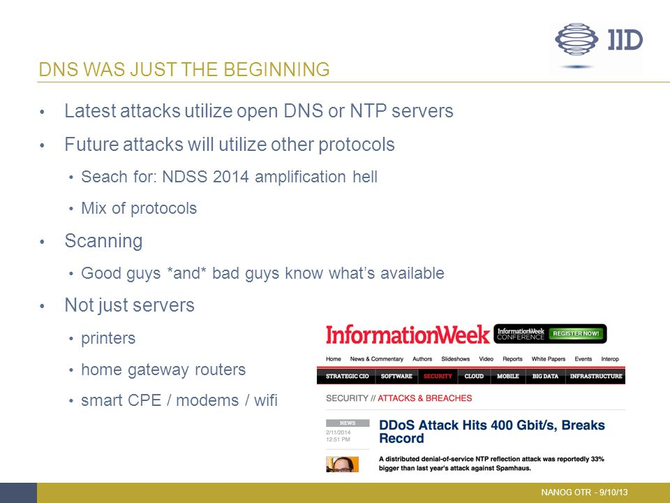 DNS WAS JUST THE BEGINNING