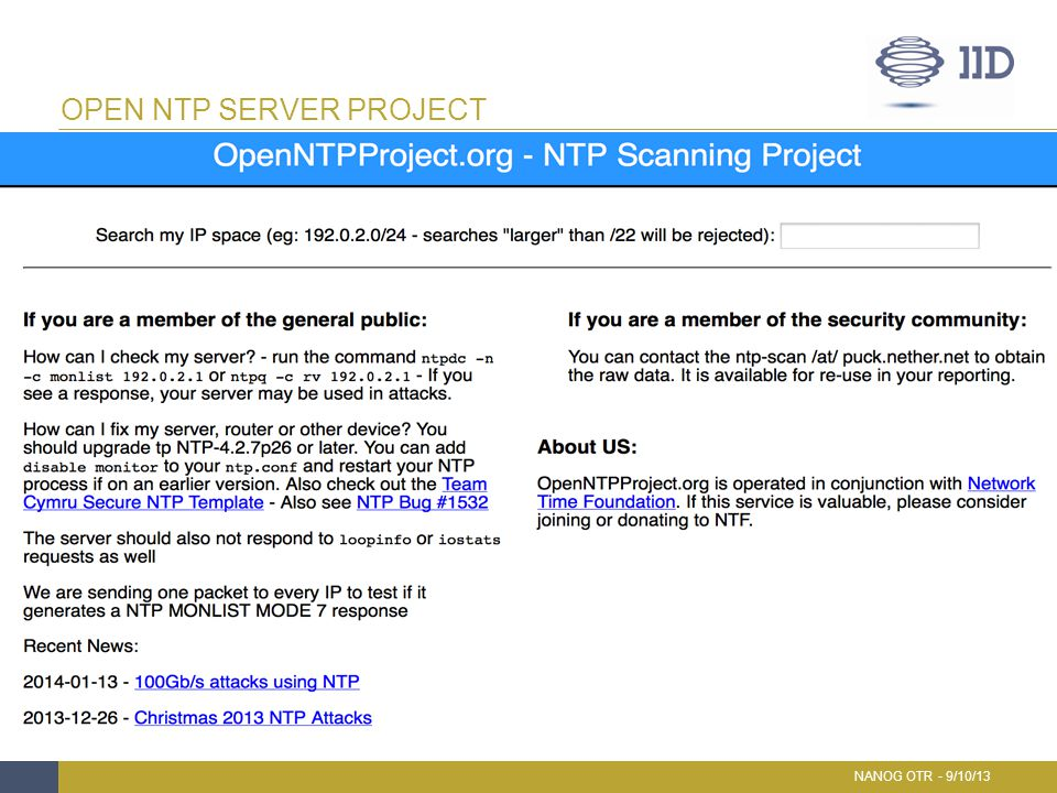 Open NTP SERVER Project