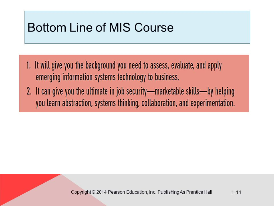 Bottom Line of MIS Course