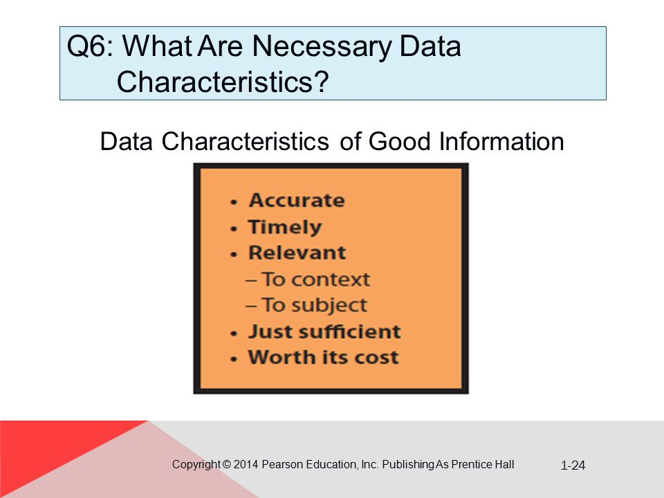 Q6: What Are Necessary Data Characteristics